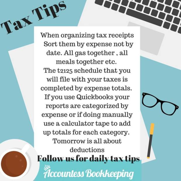 organize your receipts tax tips